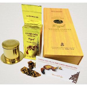 Cà phê Chồn Hoàng Gia - 100% Robusta -200gram