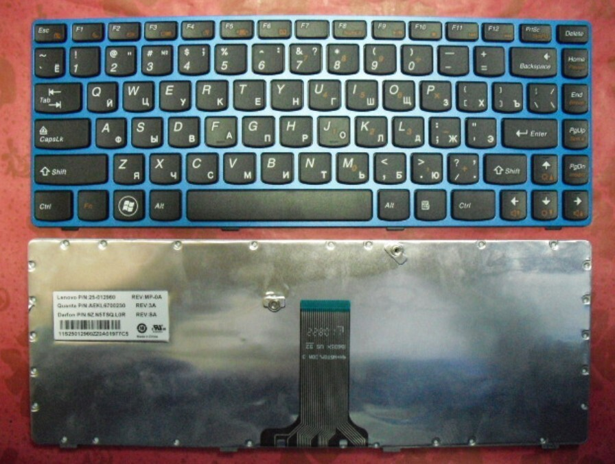 bàn phím laptop lenovo Z470 (đen)