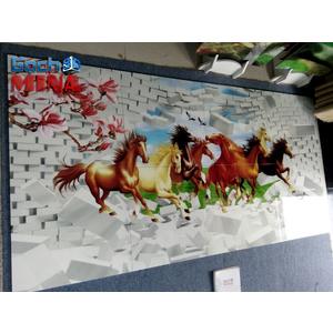 Mẫu gạch 3D con ngựa giao khách