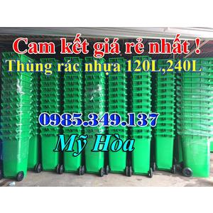 Thùng rác công cộng 240 lít giá rẻ,nhựa HDPE